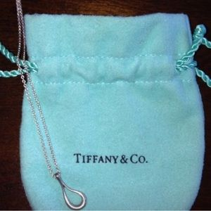 Tiffany and co Rare Open Teardrop Necklace